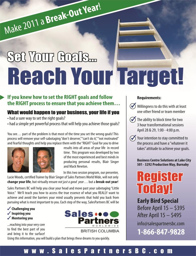 Set your Goals... Reach your target